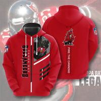 Tampa Bay Buccaneers Hoodie Football Hooded Sweatshirt Pullover Casual Jacket
