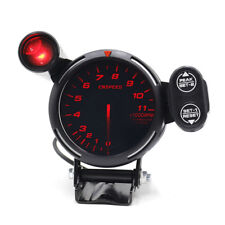 "3.5"" Tachometer Gauge Kit Red LED 0-11000 RPM Auto Car Meter with Shift Light"