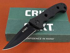 CRKT Hammond Cruiser Black Tactical Folding Knife Straight Edge LAWKS CR7904KN
