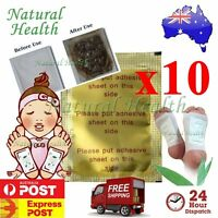 10 x Detox Kinoki Foot Patch Pad Natural plant Herbal Toxin Removal Weight Loss