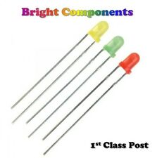 30 x 3mm LED (Green, Red, Yellow) + Resistors (5/9/12v)
