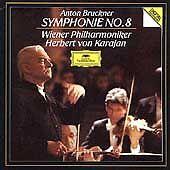 BRUCKNER Symphony #8 KARAJAN (2CD, 1989, DG) SOLID SILVER