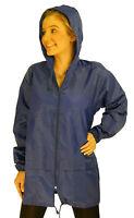 New Mac Lightweight Raincoat Kagoule Rain Jacket Coat Hood Royal Blue Large