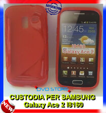 Pellicola + Custodia cover case WAVE ROSSA per Samsung Galaxy Ace 2 I8160