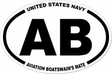 3x4.5 USN  NAVY AB AVIATION BOATSWAIN'S MATE STICKER