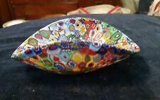 MURANO Millefiori Art Glass 5 Inch bowl turned up sides
