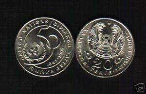 KAZAKHSTAN 20 TENGE KM-12 x 10 Pcs Lot 1995 UN Commemorative 50th Anny UNC COIN