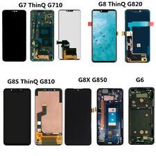 For LG G6 G7 G8 ThinQ G8s G8X G710 G810 G850 LCD Touch Screen ±Frame Replacement