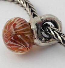 Authentic Trollbeads Sterling Silver & Glass Autumn Bead Charm 61720