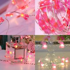 3M 30 LED Pink Rabbit Shape Fairy Garden Christmas Party Decor Xmas String Light