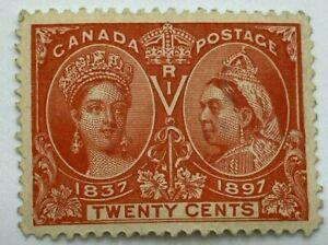 CANADA #59,20 cents Jubilee Orange , VF, Mint No Gum Scott $275 ST233