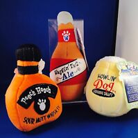 DOG TOY PLUSH SQUEAKER PET SUPPLIES NEW GIFT TIPSY TAILS BOOZE ALCOHOL BEER ALE