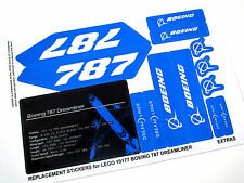 'DIE CUT' REPLACEMENT STICKERS for Lego 10177 BOEING 787 DREAMLINER with EXTRA'S