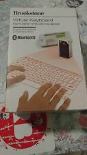 Brookstone Virtual Keyboard Projection Bluetooth Full Size USB barely used