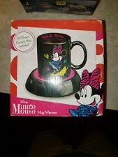 Disney Minnie Mouse Black Pink Electric Mug Warmer with Ceramic Mug