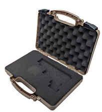 Coyote TAN Pluck & Foam Pistol Case Hard Lockable Airline TSA Approved CMFF - XL