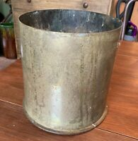Huge Antique WWI Brass Trenchart Shell Cartridge Casing German, Pulte Oct.1917