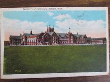 Sacred Heart Seminary, Detroit, Mich #24525 (08-23-29), Vintage Postcard