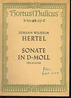 Sonate in d-Moll für Klavier ~ Johann Wilhelm Hertel