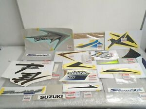 Job Lot Shop Clearance Genuine OE Suzuki Motorcycle Decals Emblems Stickers New