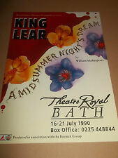 "THEATRE ROYAL BATH "" KING LEAR "" THEATRE HANDBILL / FLYER 1990"