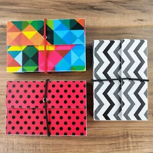 Lot of 3 Vinyl Boxes Of Blank Note Cards/Recipe/Address Cards Decorative Box