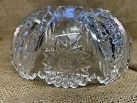 Clear Diamond Starburst Ruffles Glass Ceiling Light Lamp Shade Vintage 7 3/4""