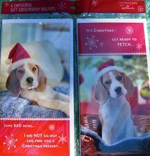 Hallmark Christmas Cards Gift Card Money Holder Cards+Envelopes 12Pack Dog Fetch