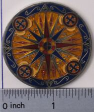 MATLOCK75'S V1 COMPASS ROSE UNACTIVATED & TRACKABLE GEOCOIN