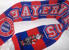 FC Bayern München Kinderschal mit altem Maskottchen 110 cm-Neu,Lizenz,Rarität
