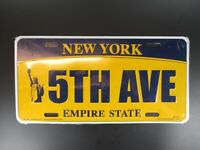 New York 5 th Avenue Plate Metall Schild Metal 30 cm USA,The Empire State ..