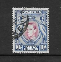 1938 King George VI SG149 10/- Purple &Blue HIGH VALUE Perf 13.25 Fine Used  KUT