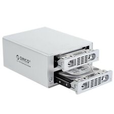 2 Bay USB3.0/eSATA External 3.5'' RAID SATA Hard Drive HDD Enclosure Aluminum