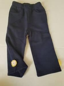 NWT Gymboree Daisy Days Navy Blue Knit Pants 18-24 mos