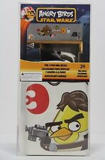 New ANGRY BIRDS STAR WARS 24 Peel & Stick Wall Decals Boys Room Decor Reusable