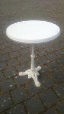 BISTRO-TISCH mit Gusseisen Löwentatze Tischbein Schmiedeeisen Coffee Table weiß