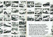 PUBLICITE ADVERTISING 096  1967  les bougies Champion ( 2pages)