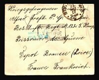 Germany 1917 POW Cover / Blue PG Censor - Z14478