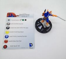 Heroclix Teen Titans set Deathstroke #037a Rare figure w/card!
