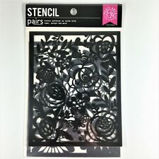 Hero Arts Floral Backgrounds Stencil Pairs 2 Stencils 5.25