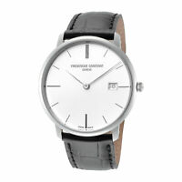 Frederique Constant FC-220S5S6 Slimline Men's 38mm Quartz Silver Dial Watch