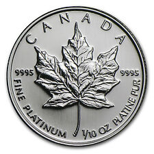 Canada 1/10 oz Platinum Maple Leaf BU (Random Year) - SKU #7480