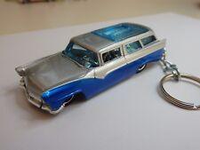 Hot Wheels Phil's Garage 8 Crate 56 Ford Custom Wagon Keychain Keyring Keyfob