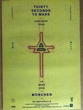 THIRTY SECONDS TO MARS 2018 MÜ.  - orig.Concert Poster -- Konzert Plakat  A1 NEU
