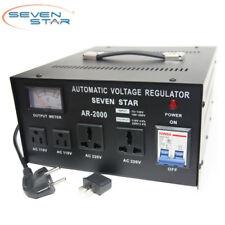 SevenStar AR 2000W Watt Voltage Regulator Transformer Step Up/Down 120V to 220V