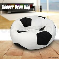 Micro Suede Football Soccer Ball Bean Shape Bag Indoor Outdoor Sofa Seat Chair