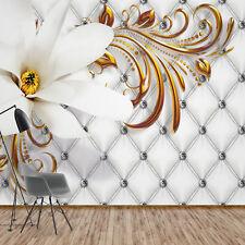 Fototapete Vlies 3D Blumen Modern - Schlafzimmer Wohnzimmer XXL Tapete (10306V8)