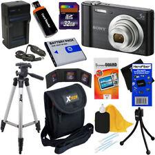 Sony DSC-W800/B 20MP Digital Camera w/5x Zoom,Blk + NP-BN1 Battery +32GB Dlx Kit