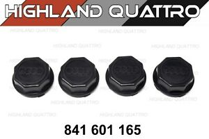 AUDI ur quattro / coupe 80 / 90 genuine set of wheel centre caps 841601165