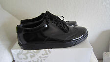 Giorgio Armani Mens Black Patent  Leather Fashion Sneakers / Shoes Sz Eu 44 Us11